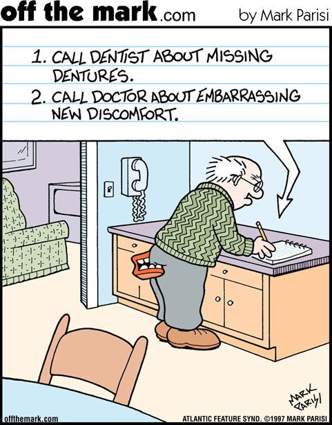 Missing Dentures Comic