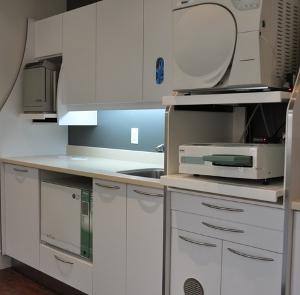 Dr. Tappuni's state-of-the-art sterilization centre.